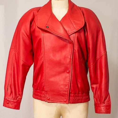 Red Leather Jacket Tumblr Rad 80's Red Leather Jacket