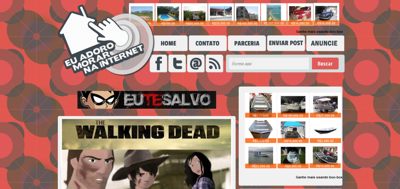 Layout 2013 do blog Eu Adoro Morar na Internet - Eu Adoro Morar Na Internet
