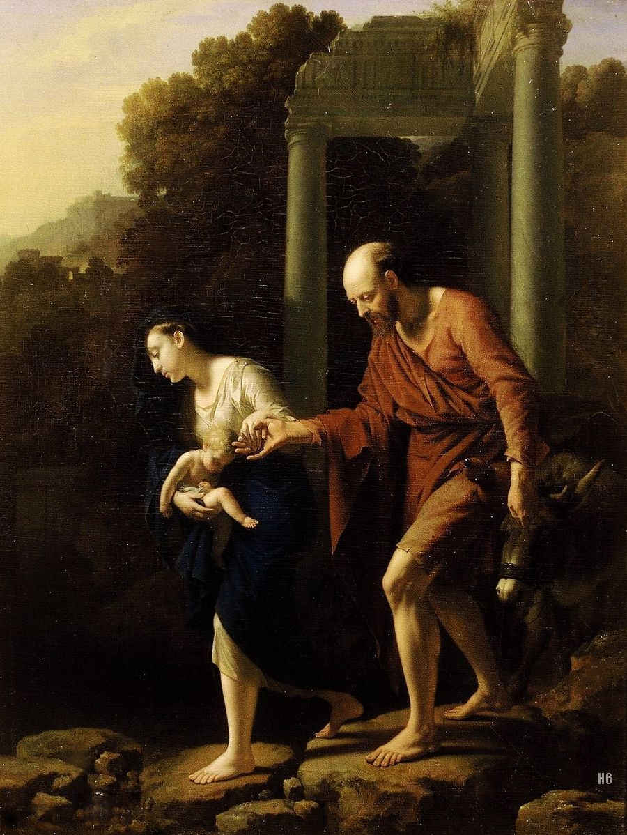 The Flight into Egypt. 1710. Adriaen Van der Werff. Dutch 1659-1722. oil/canvas. http://hadrian6.tumblr.com