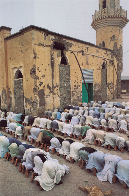 battered mosque at Nakfa, Eritrea    National Geographic June 1996     Robert Caputo
