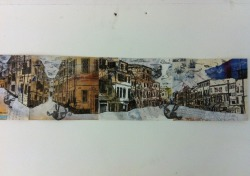 Mixed media etching and chine colle of Venice :) final piece for exam work at A2 level :)