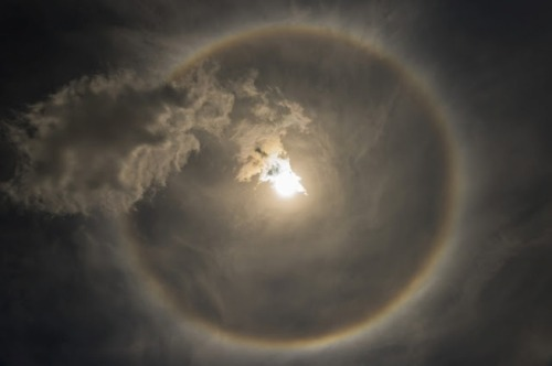 THIS SUN HALO APPEARED OVER NEW YORK SKIES LAST WEEK