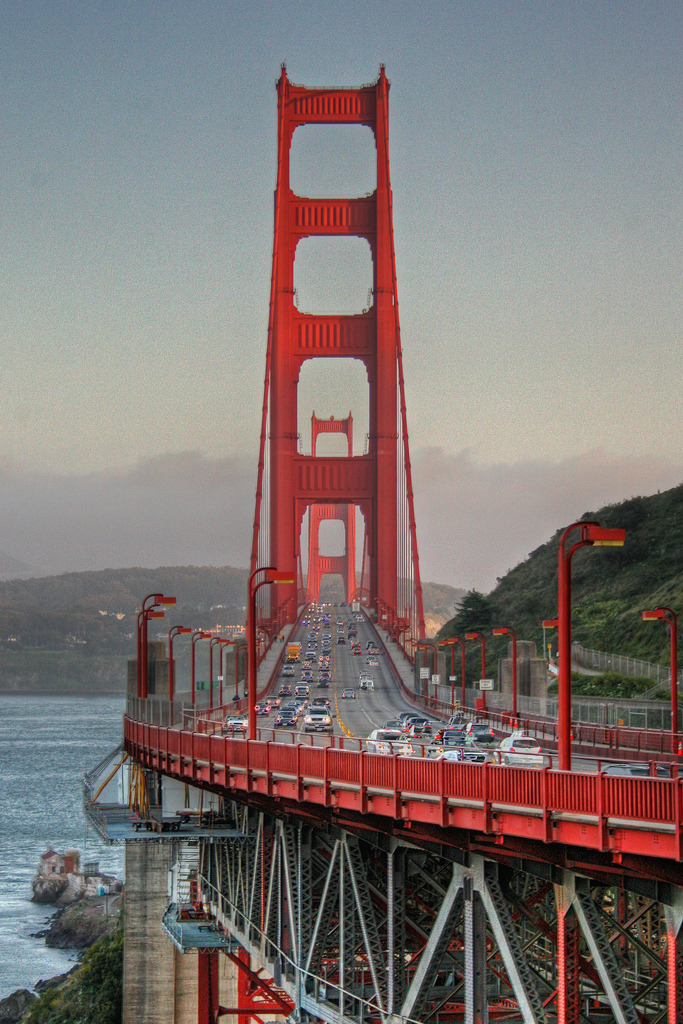 travelingcolors:  Golden Gate Bridge, San Francisco | California (by Brad-Miller)