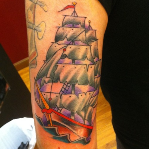 #clippership #tattoo by @dominicpiccirillo #brasscitytattoo #waterbury #connecticut