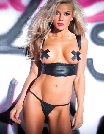 Have you checked out our vegan leather yet? Pieces like this Naughty Nights Open Cup Bustier are animal friendly. And at $39.95 this piece is wallet friendly as well.