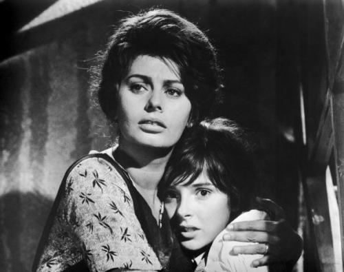 Sophia Loren and Eleonora Brown in La Ciociara (1960)