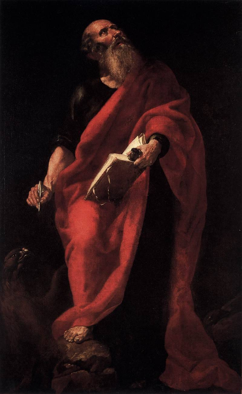 Juan Ribalta Saint John the Evangelist Museo del Prado, Madrid, Spain