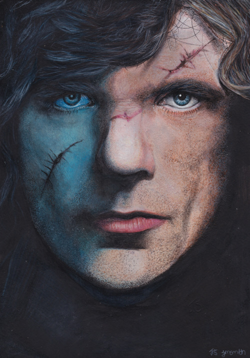 gameofthrones:  A very small man can cast a very large shadow. Painted/drawn with acrylics and pencils. http://jacksmith1994.deviantart.com/
