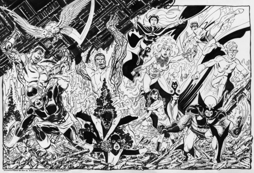 Byrne's take on the X-Men and New Teen Titans