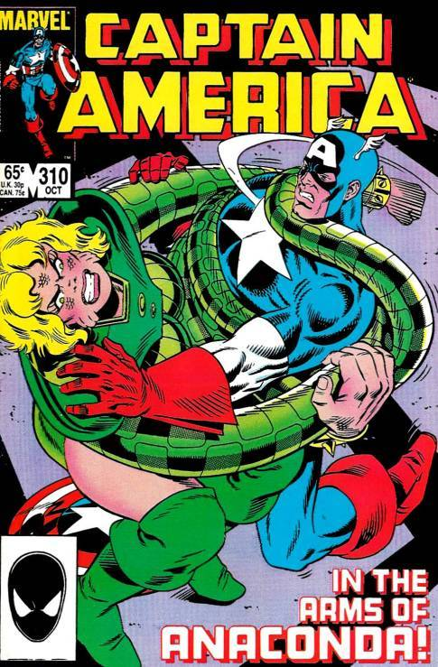 Captain America #310, October 1985, written by Mark Gruenwald, penciled by Paul Neary