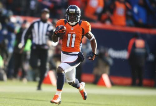 Trindon Holliday - listed at 5'5. Professional football player for the Broncos. This year he became the first player to score on both a punt and a kickoff return in the same playoff game. Both returns are also the longest in NFL playoff history. And that's in a sport of monster-sized guys.