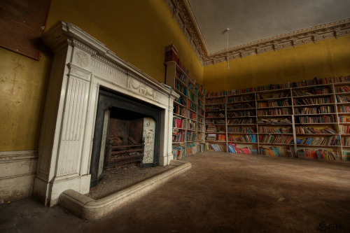 teachingliteracy:  Fireplace and books (by Key Powt)