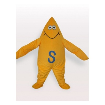 maygrey:  Yellow Starfish Halloween Adult Mascot Costume Other Mascot Costumes Discount Costume - $239.99