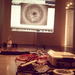Gettin all set up in the gallery! 😄 #bfa #nwsa #newworldschoolofthearts #senior #exhibition #interactive #processing #kinect #fun #art #installation #cifo #miami #florida the show is This Friday, 7-10pm at cifo in downtown Miami!! Come see, it's gonna be a sick show!!!