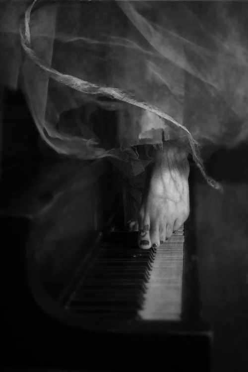 ..walking on keys, music