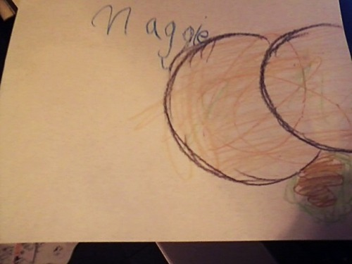 "I was baby sitting my 5 year old cousin last night and she drew me this. I asked her what it was and she said ""it's a butt pooping diarrhea."""