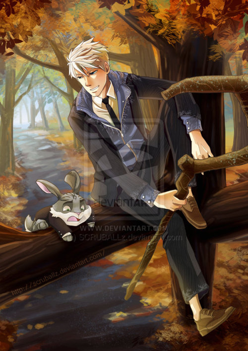 Jack Frost + Bunnymund Fan art by The Kao :)