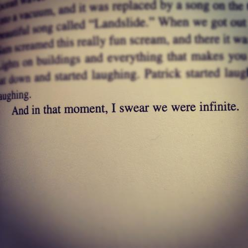 nanana-batmaaan:  And in that moment, I swear we were infinite.