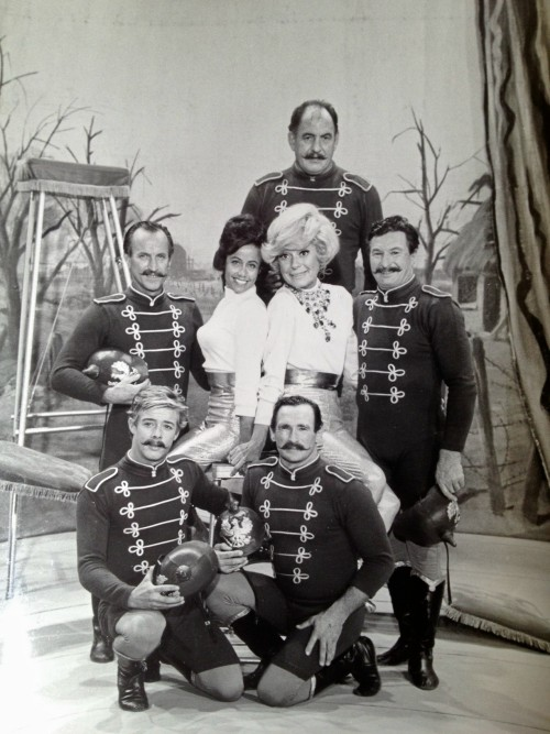 squarecutorpearshape:  Carol Channing and her stunt double for Thoroughly Modern Millie (Her stunt double did the really crazy stuff, though Carol still managed to do a lot of the flips for this number).