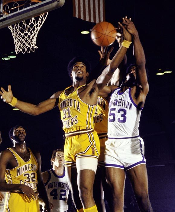 A rare photo of Baseball Hall of Famer Dave Winfield grabbing a rebound for the Minnesota Golden Gophers is part of Sports Illustrated's gallery of the 50 best college athletes of all time.