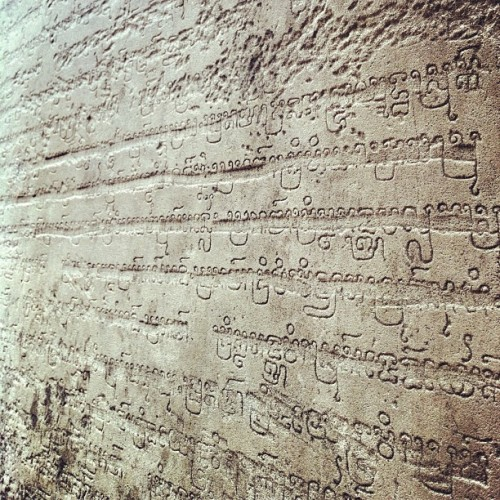 rachaelwingo:  Khmer text on the walls of Angkor #cambodia #instakhmer #angkor #angkorwat #khmer (at Angkor Wat Temple (អង្គរវត្ត))