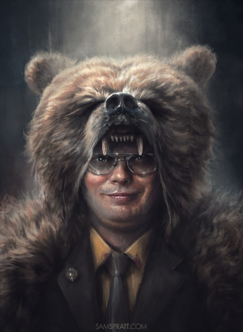 "samspratt:  ""Dwight Schrute: Bears, Beets, & Battlestar Galactica"" - by Sam Spratt With The Office ending tonight, I felt it was appropriate to bring back this illustration I did a couple years ago."