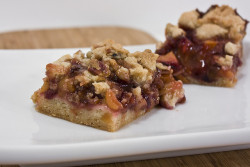 Cherry Peach Crumb Bars Angle by Delairen on Flickr.