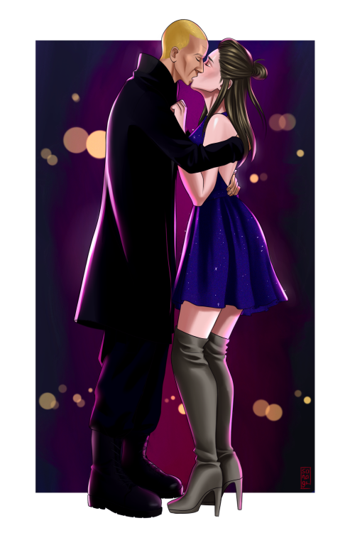 ilikemymendarkandfictional: Artist shoutout to @sanagii for their wonderful artistic skills in bringing one of my favorite scenes from my fic to life!  Appreciate creators where you can! Reblog their work and promote them if you can't commission them yourself. Their amazing skills can bring your OC's to life! I can't wait to see more art from so many wonderful artists!  Thank you so much for your support!! Means so much to me 💕 #commissions#clients posts