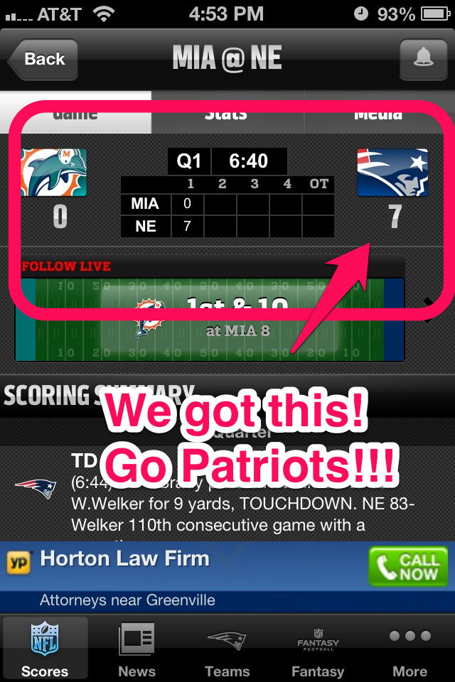 We got this!!! Go Patriots!!!!