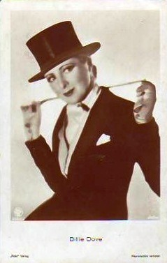 Billie Dove in top hat and tails. Every actress of the 20s and 30s seems to have done this look at some point - some better than others! Gloria Swanson liked to get in character and see if she could pass.
