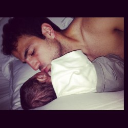 barcaville:  Cesc Fabregas: Waking up next to your princess…