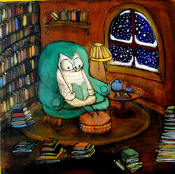 bookporn:  Snowy Owl Would Rather Be Reading (by Johanna Wright)