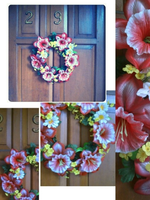 the right place to put my DIY wreath, the front door. it turns out very pretty :) love love!