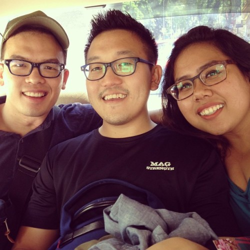The cool kids in the back seat. #best #pals @ari2004 @tanxingjian