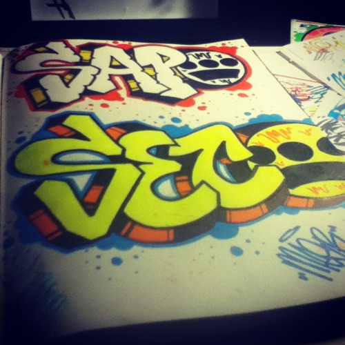 mesrthemonster:did the homies namess in my book.lookin fresh