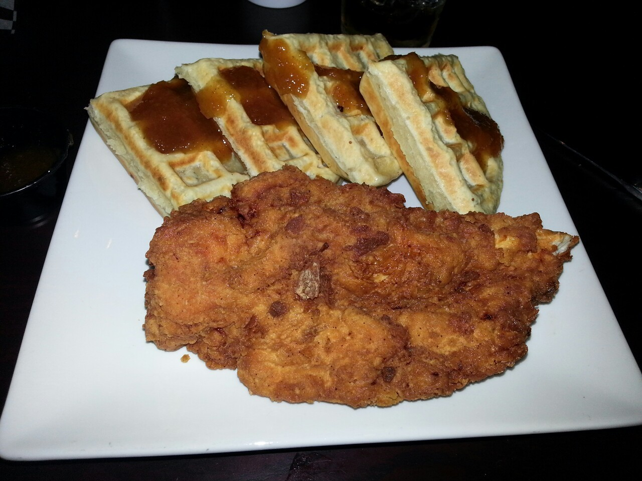 Chicken and waffles for the 1st time