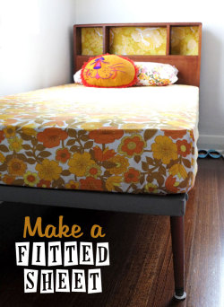 prettylittlepieces:  How to Convert a Flat Sheet to a Fitted Sheet