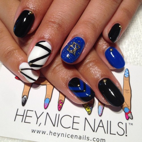 heynicenails:    I❤LA Birthday Nails @Dodgers #nailart #la #prestogel #nicenailsfornicepeople