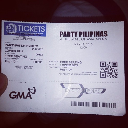 Party Pilipinas. Mother's Day Special :) (at SM Mall Of Asia Arena - Suite 336)