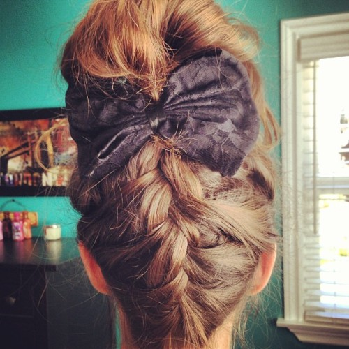 darlingrachel:  french braid bun 😊 #hair #frenchbraid #braid #hairgram