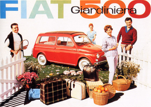 Fiat 500 giardiniera, 1960 by laura@popdesign on Flickr.