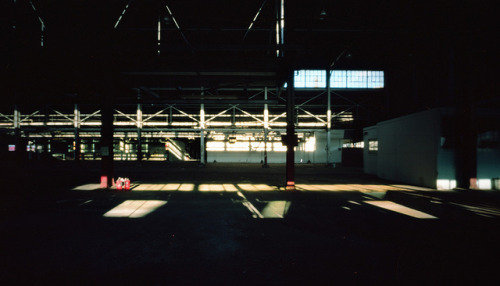 Pinhole: Lit on Flickr.Garage/Warehouse, Abandoned Tennessee Department of Highways and Public Works in Nashville Zero Image 69, f235, Kodak Portra 160, about 45 seconds