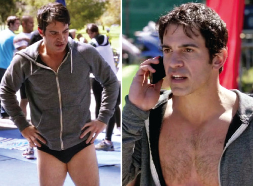 quintessentiallyquirky:  Chris Messina in a speedo.  Thank you for this comic gold, Mindy!