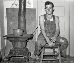 "k-a-t-i-e-:  ""Young farmer of Jefferson County, Kansas."" October, 1938 John Vachon"