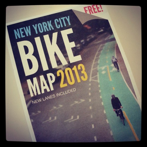 thelowline:  Do you like biking in and around NYC? Grab a copy of the 2013 NYC Bike Map! nycgov:  If you love biking in NYC, download the 2013 NYC Bike Map at nyc.gov/bikemaps or call 311 for a paper copy.    Photo: @nyc_dot Instagram