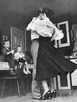 sinuses:  Children watching mom and daddy dancing, 1950s.  Photo: Susanne Szasz