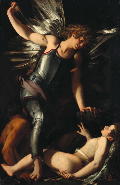 Giovanni Baglione - The Divine Eros Defeats the Earthly Eros; Gemaldegalerie der Staatliche Museen zu Berlin, Germany; 1602