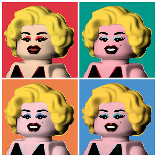 legoexpress:  Marilyn by powerpig on Flickr.