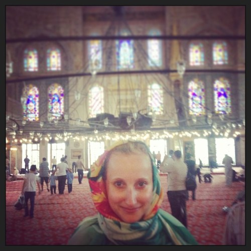 Visiting the Blue Mosque! #istanbul / on Instagram http://bit.ly/16AUk5e