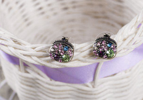 fashion-n-beauty:  Purse Shape Ear Studs